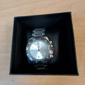 Men's FMD Silver Watch With Silver Band New In Box